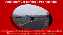 asda B42 1AA, asda at one stop shopping centre, asda car park staff, asda one stop shopping centre, ASDA Staff car park at One Stop Shopping Centre  2 Walsall Rd, Perry Barr, ASDA Staff car park,  ASDA,  ASDA Staff, Staff car park  at One Stop Shopping Ce